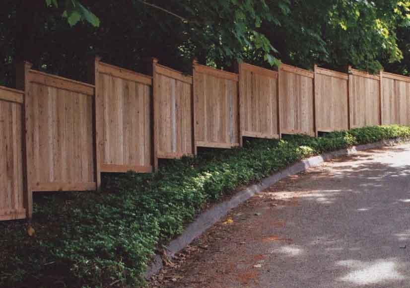 Custom Wooden Fence