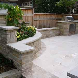Masonry/concrete design at work in a patio