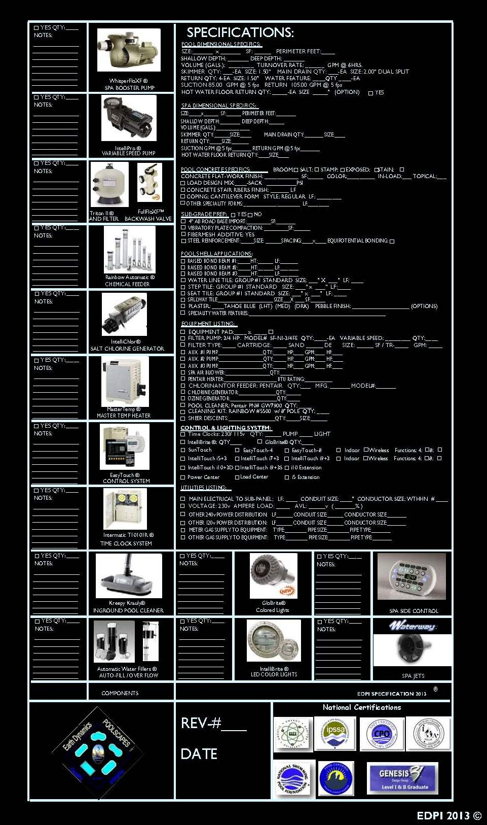 ePoolscapes Sample Specification