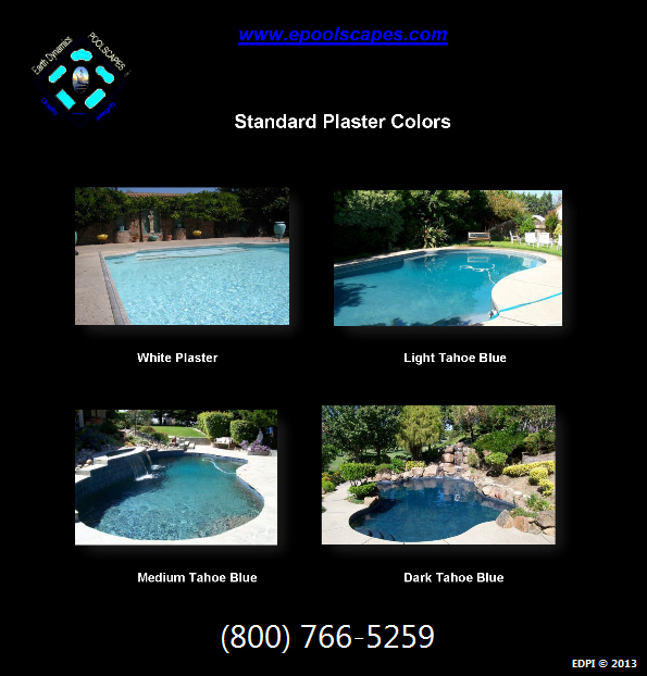 Standard Swimming Pool Plastering Selections