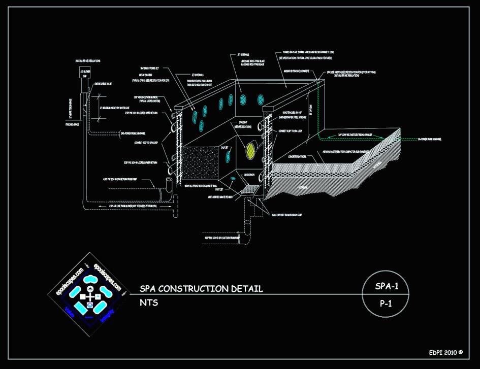 ePoolscapes.com Spa Construction Detail
