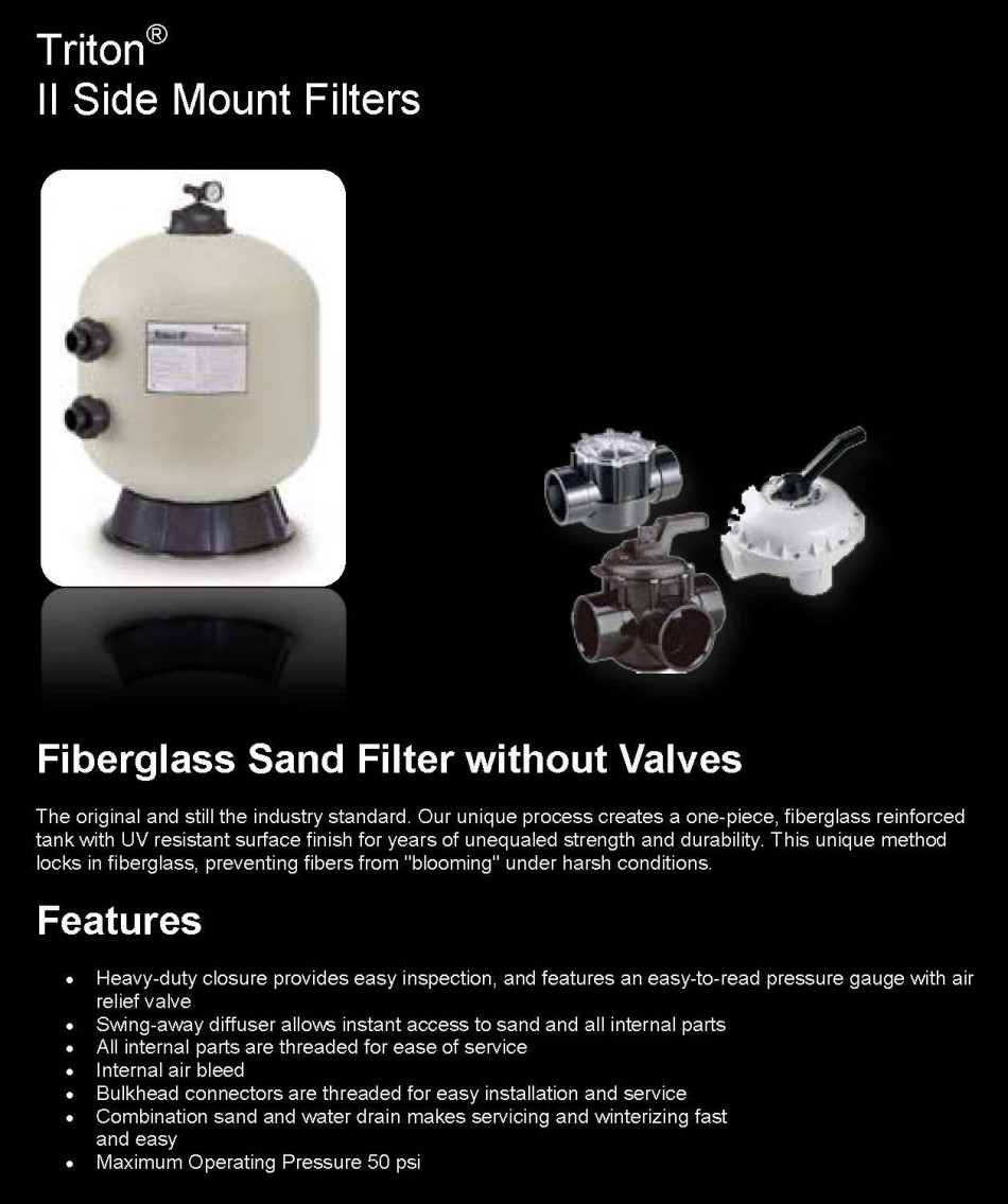Pentair Triton Sand Filter