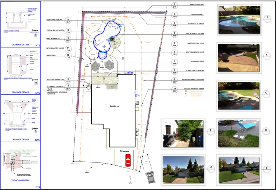 Sample Pool and Drainage Plan #3