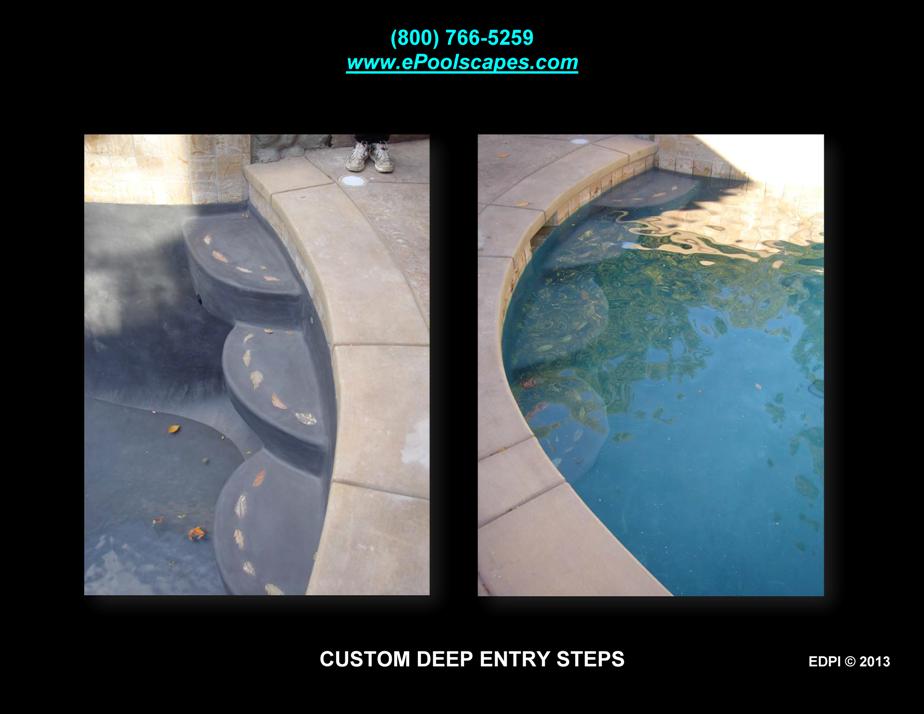 Deep End Entry Steps