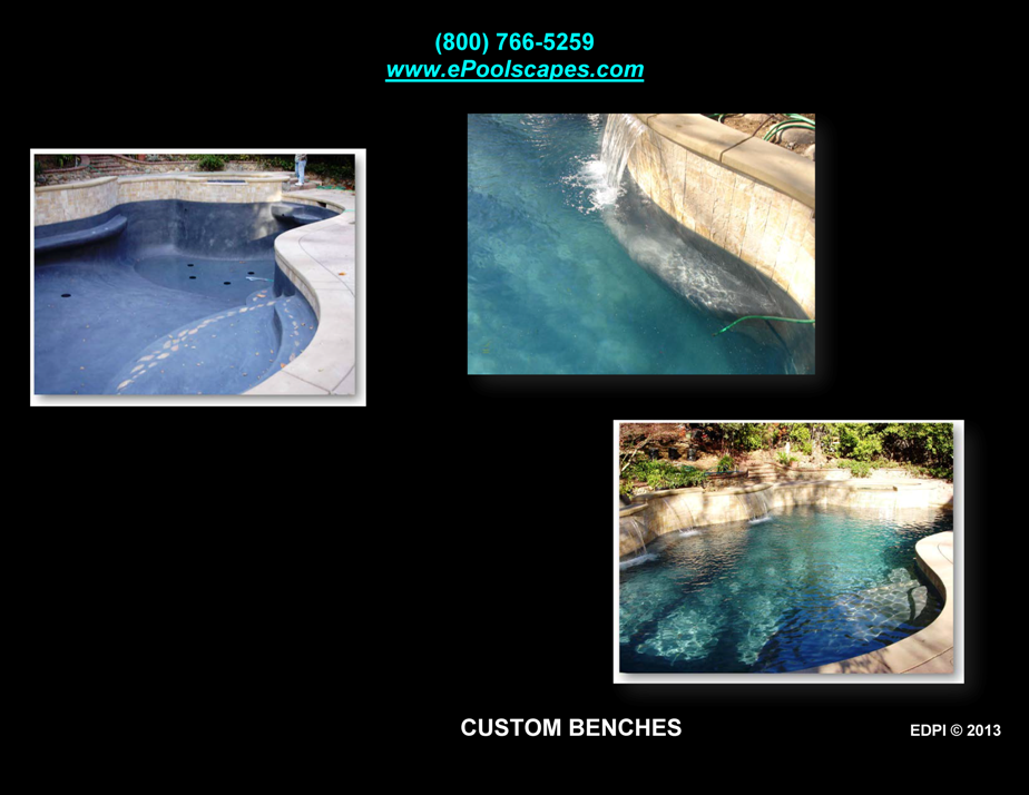 Custom Swim-Out Benches