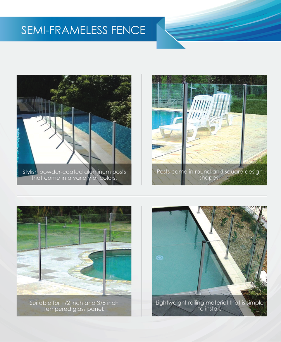 Pool Tempered Glass Safety Barrier