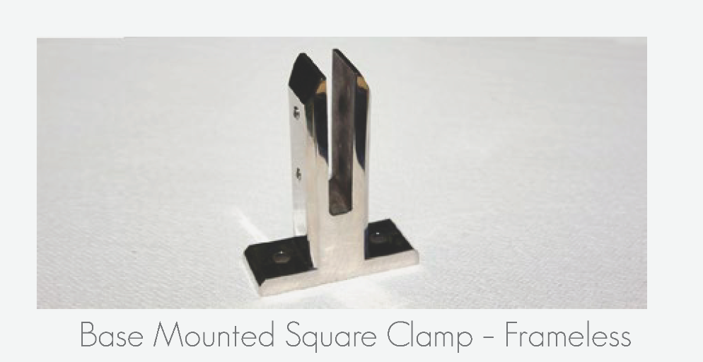 Base Mounted Square Clamp - Frameless