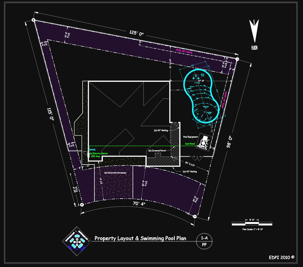 Sample Property Plot Plan w/ Pool Layout