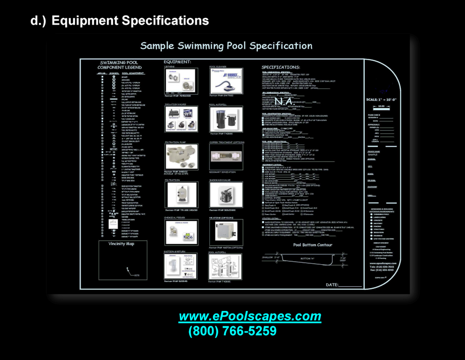 1-d Swimming Equipment Specifications