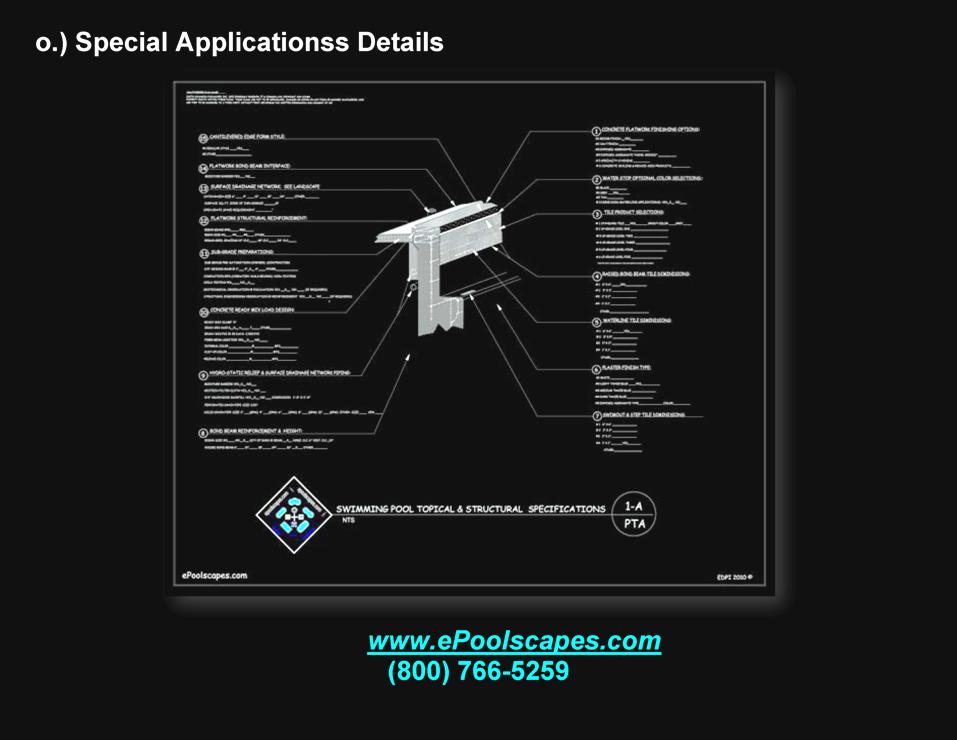 1-o Special Applications Details